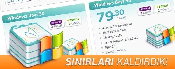 Sınırsız Kaynaklar Windows Bayi Paketlerimizde! 40
