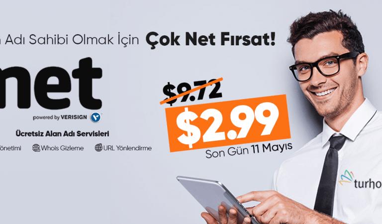 2,99$'a .Net Domain Kampanyası !