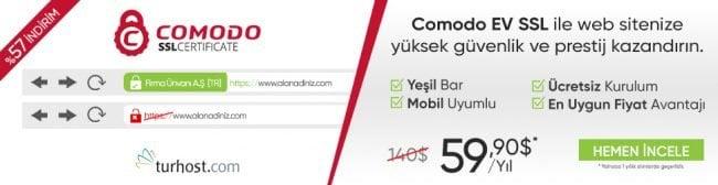 COMODO EV SSL Sertifikası %57 İndirim Fırsatı! 40