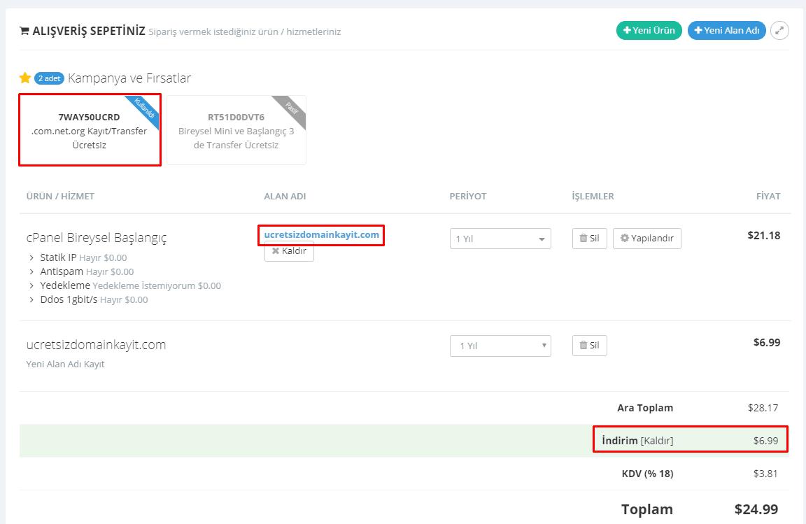 Ücretsiz Domain Kayıt ve Transfer Fırsatı! 42