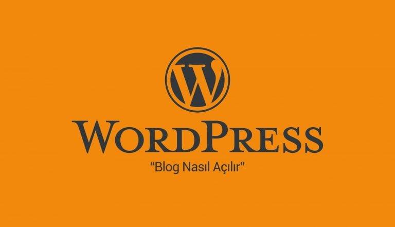 WordPress Blog Nasıl Açılır? 1