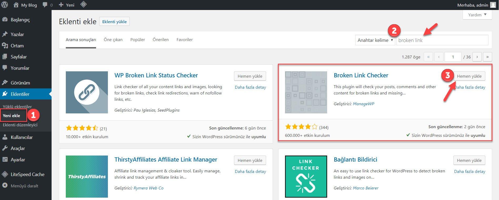 WordPress Kırık Link Nasıl Kontrol Edilir? 40