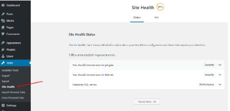 site sağlığı