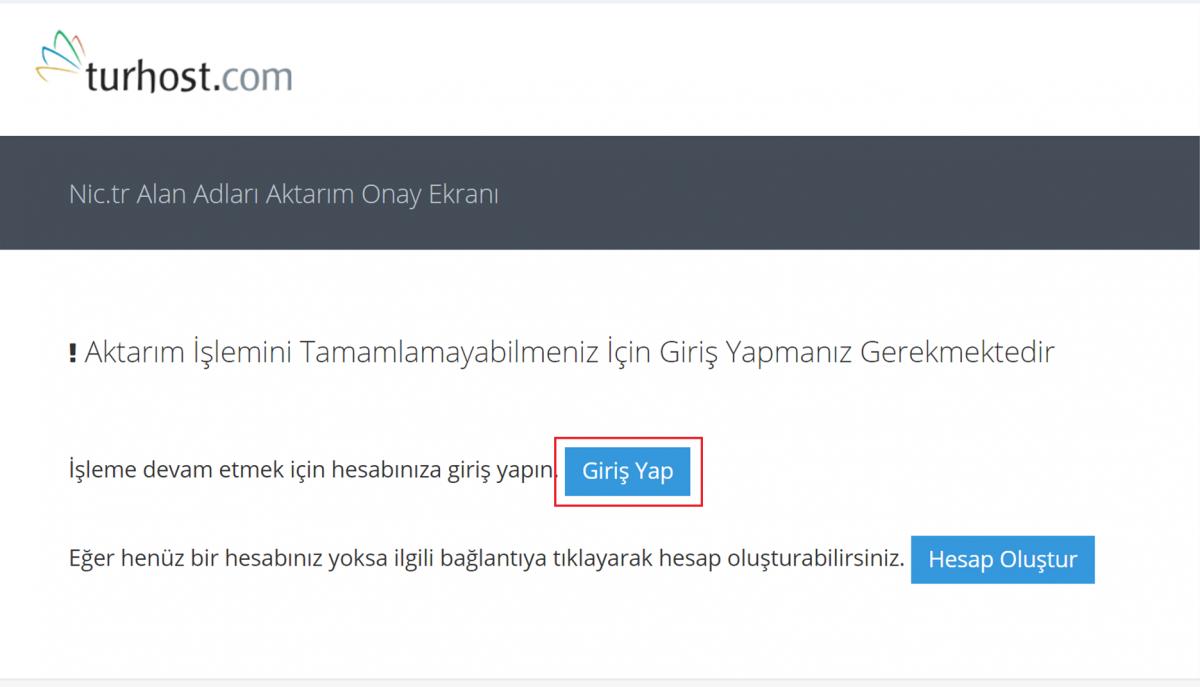 turhost .tr domain transferi