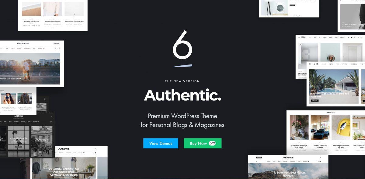 Authentic kişisel blog teması