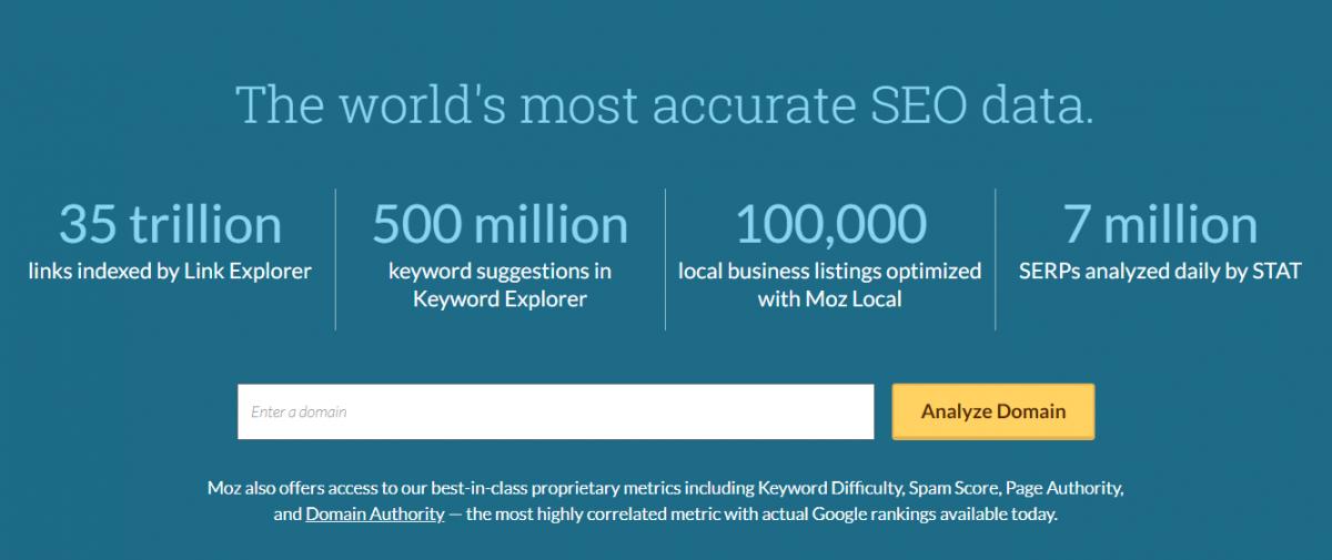 MOZ, 500 binden fazla kullanıcısı olan, SEO ve yazılım hizmeti veren ünlü bir ABD şirketi.