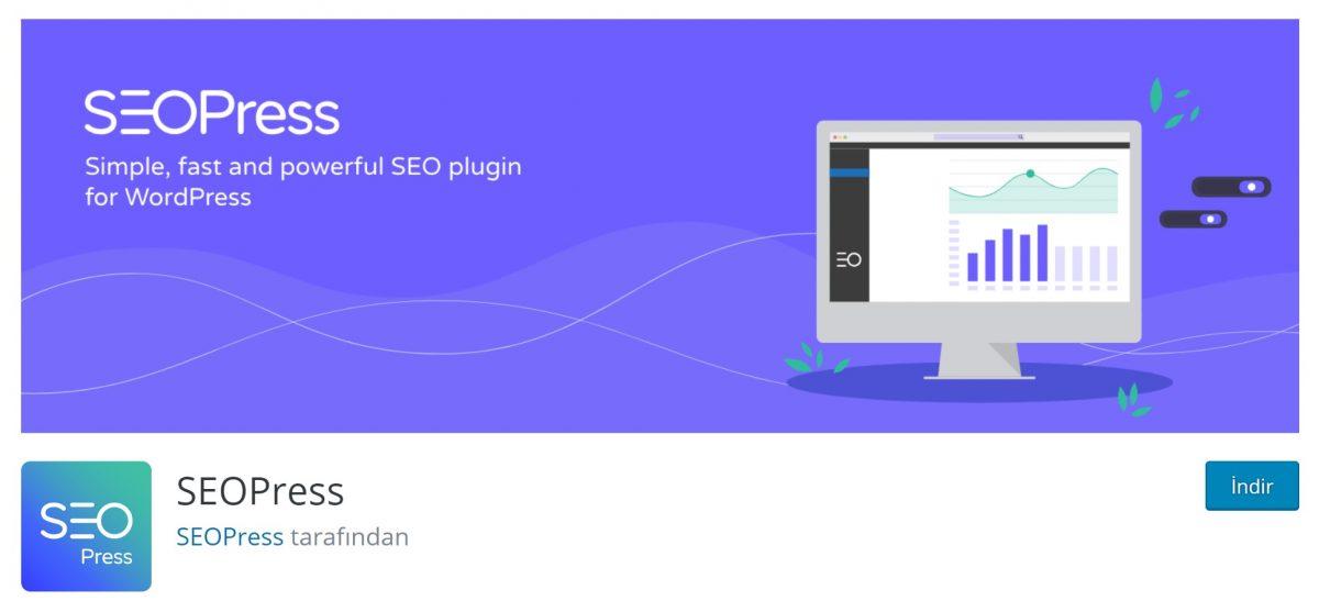 SEOPress'in ücretsiz versiyonuna WooCommerce entegrasyonu dahil.