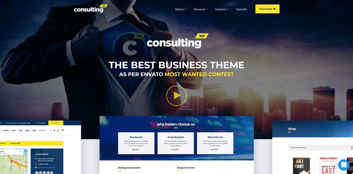 Consulting wordpress kurumsal tema