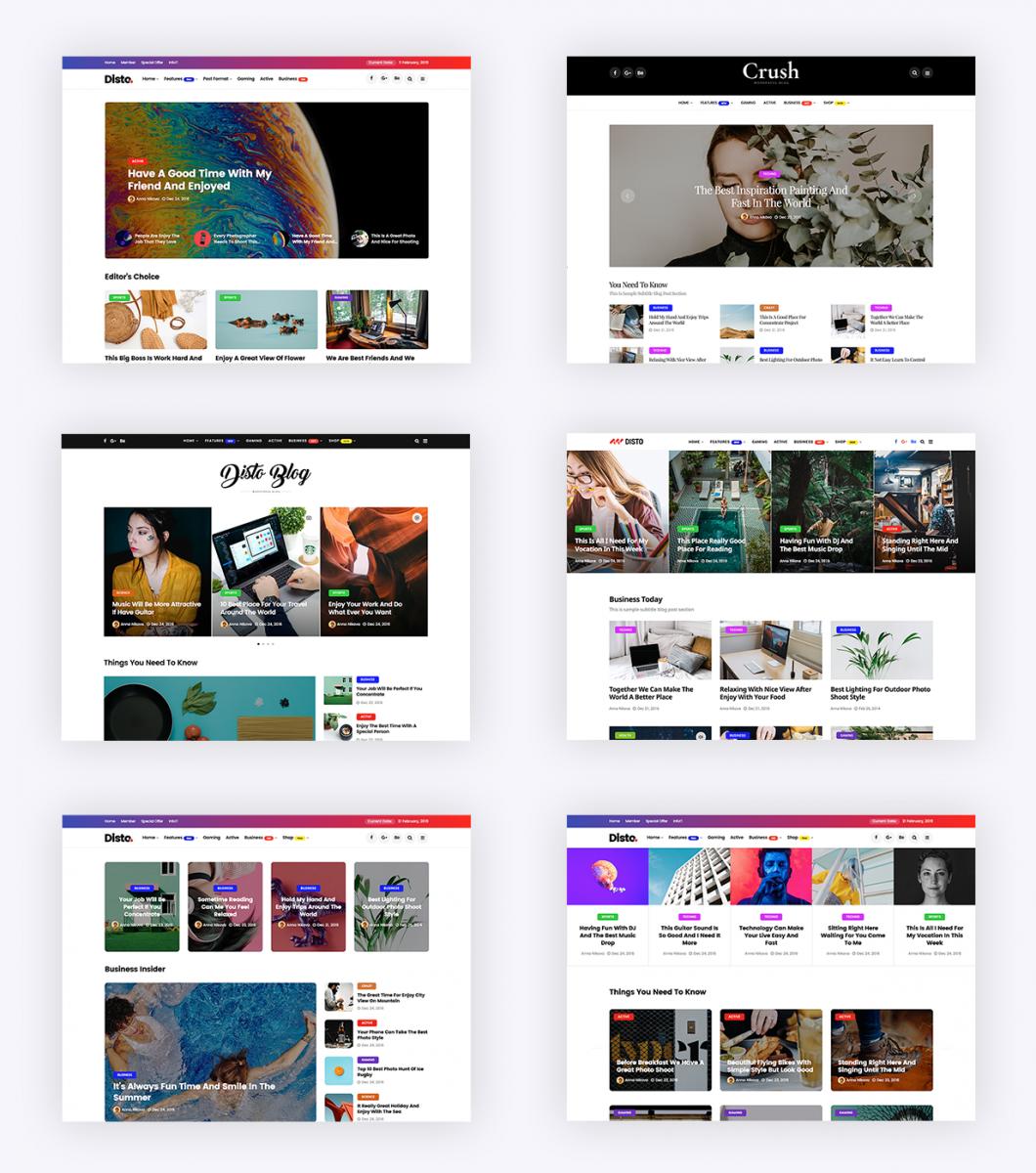 Disto Kişisel Blog Temaları