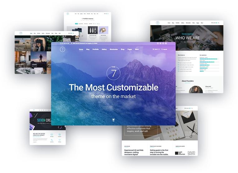 The7 WordPress Demo tasarımlar