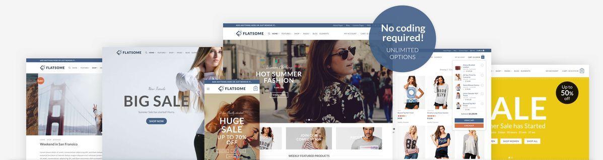 FLATSOME WordPress E-ticaret teması