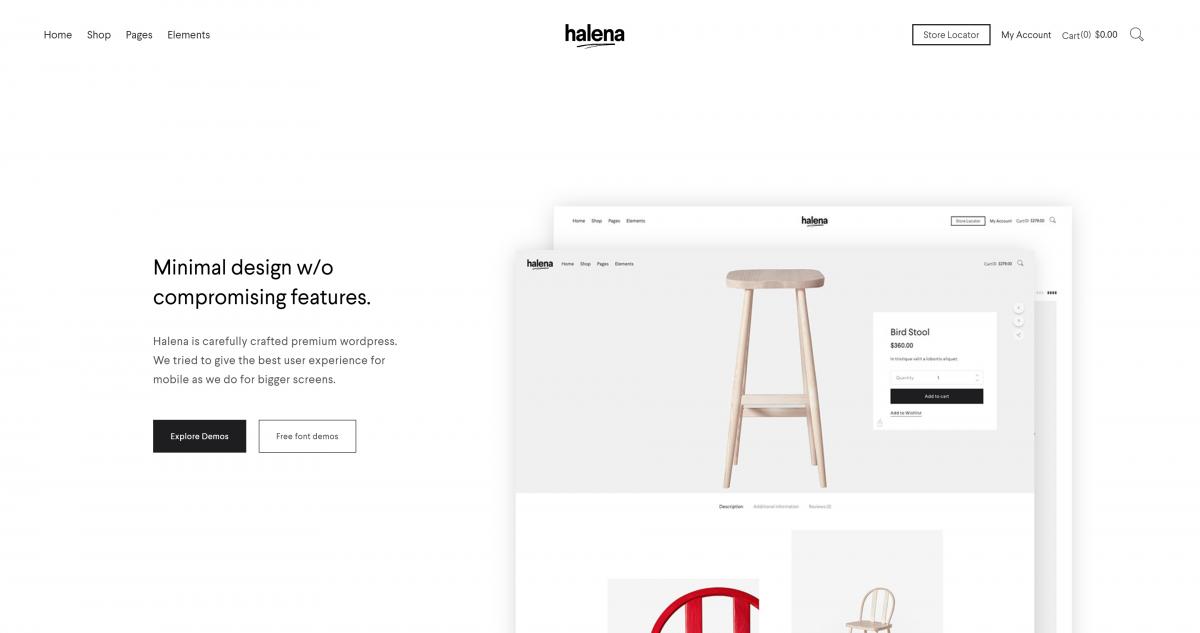 Halena WordPress e-ticaret teması
