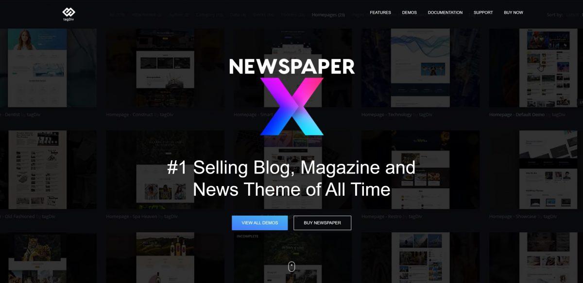 Newspaper en iyi WordPress teması