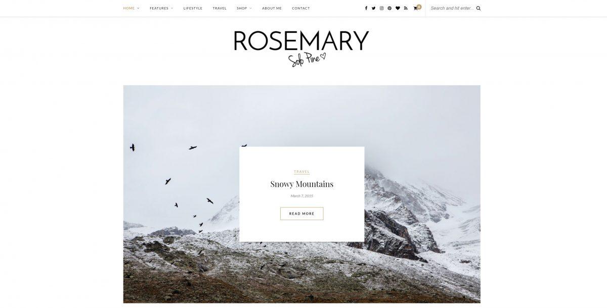 Rosemary Kişisel Blog Teması