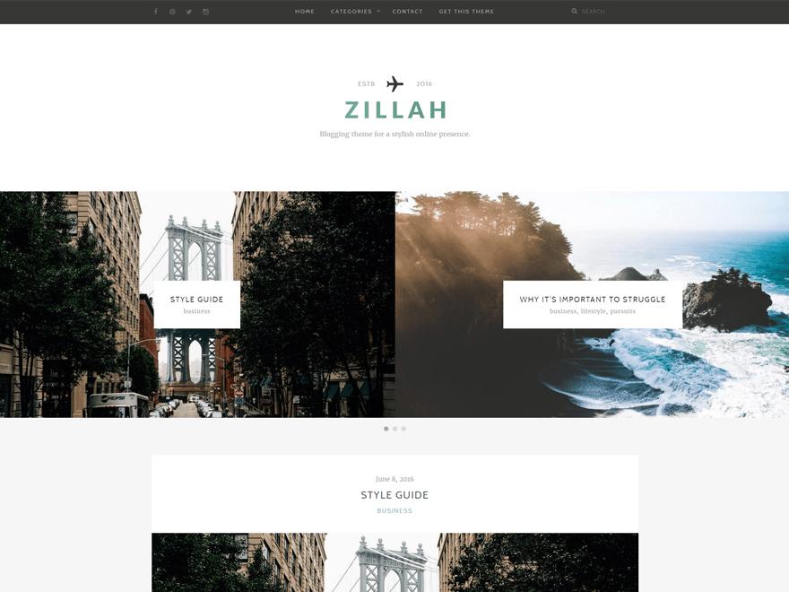 zillah WordPress Teması