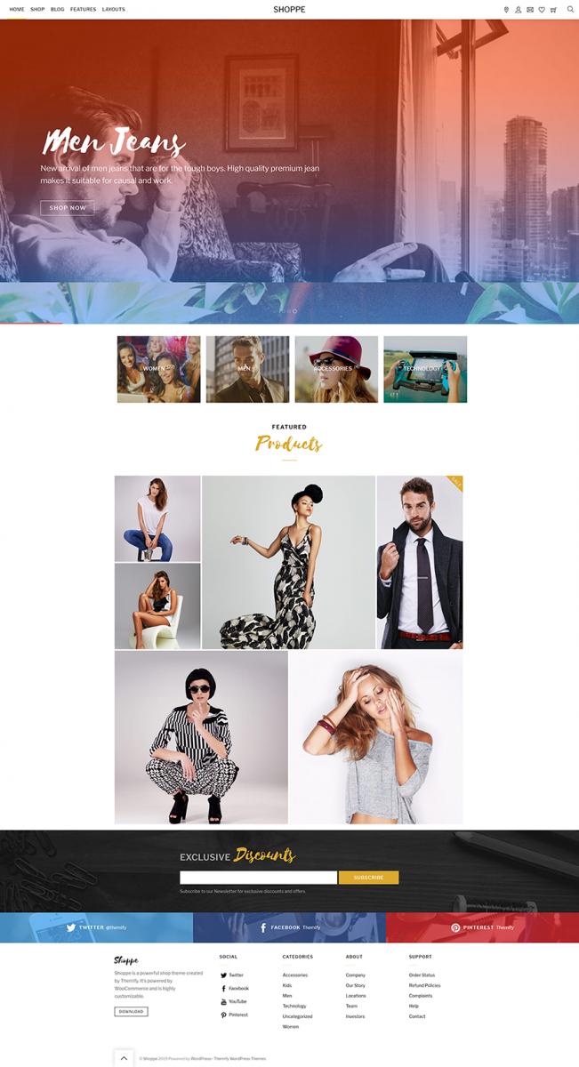 Shoppe WordPress Teması