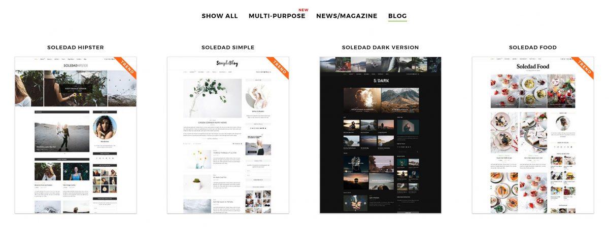 Soledad Kişisel Blog Teması