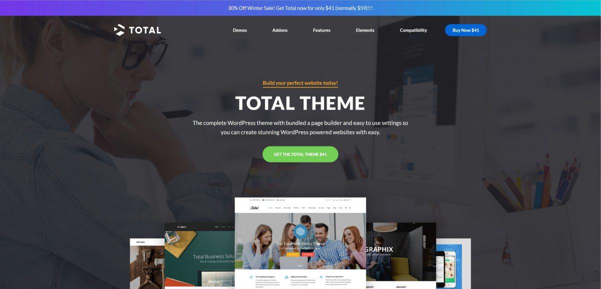 Total WordPress kurumsal teması