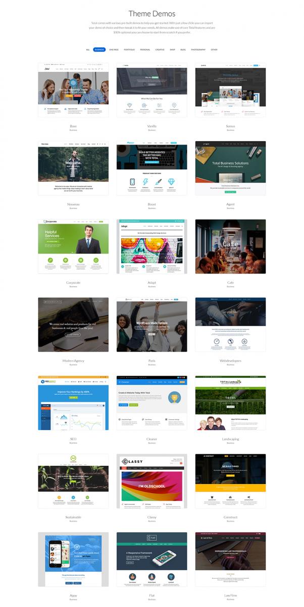 Wordpress kurumsal tema demo