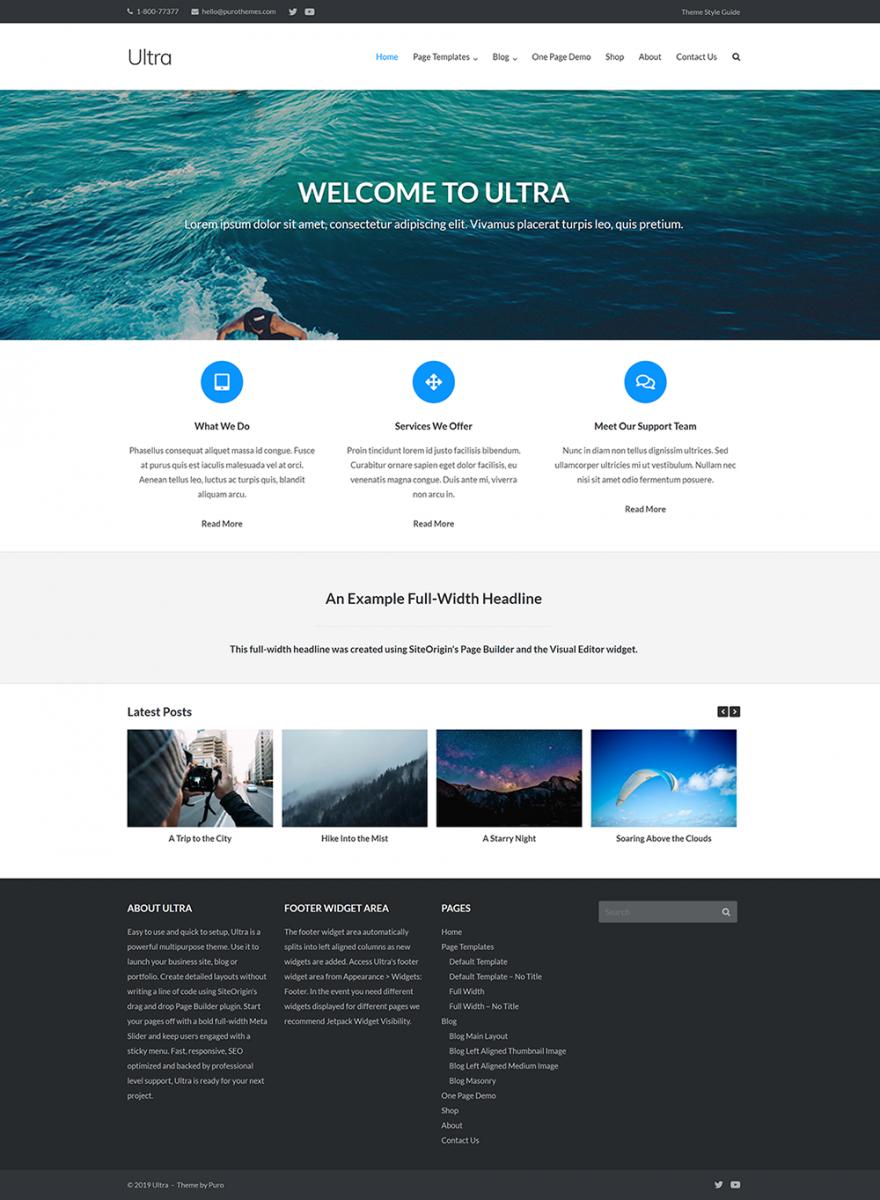 Ultra WordPress  Teması