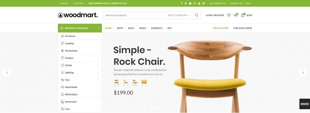 WoodMart WordPress E-ticaret teması