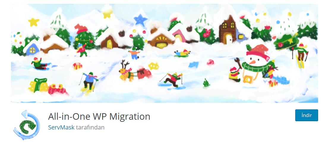 En iyi wordpress eklentileri - all in one wp migration
