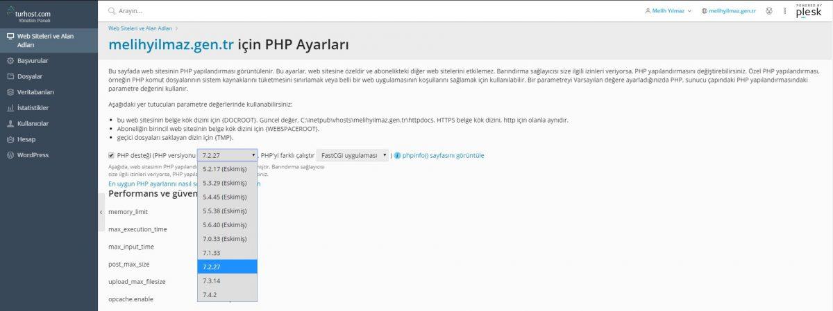 Plesk'le PHP projelerini yönetmek çok kolay!