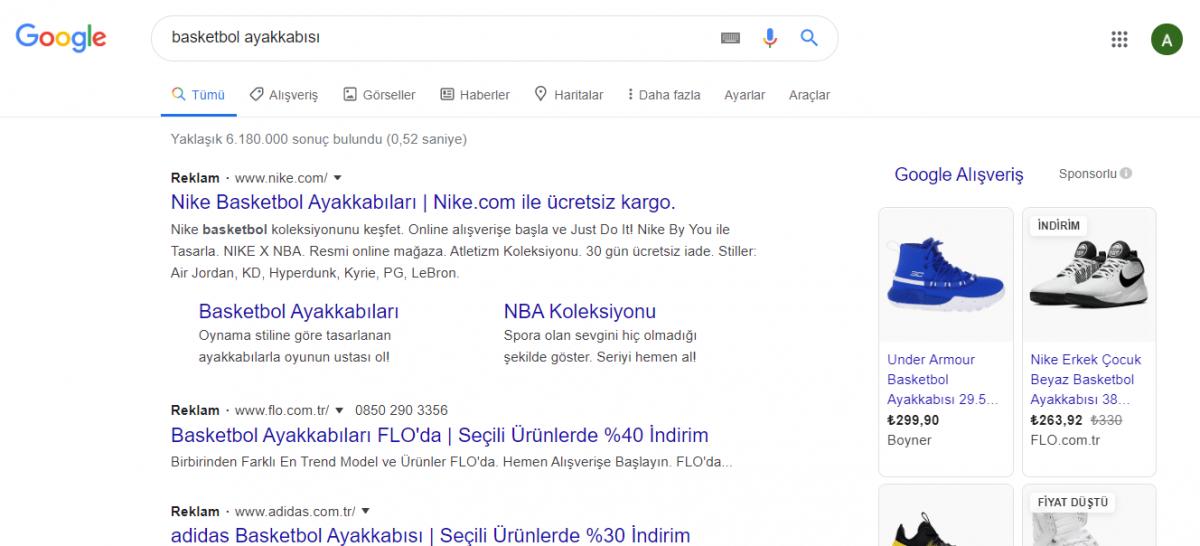 Google Adds'de alışveriş kampanyaları mağazanızın vitrini sayılır.