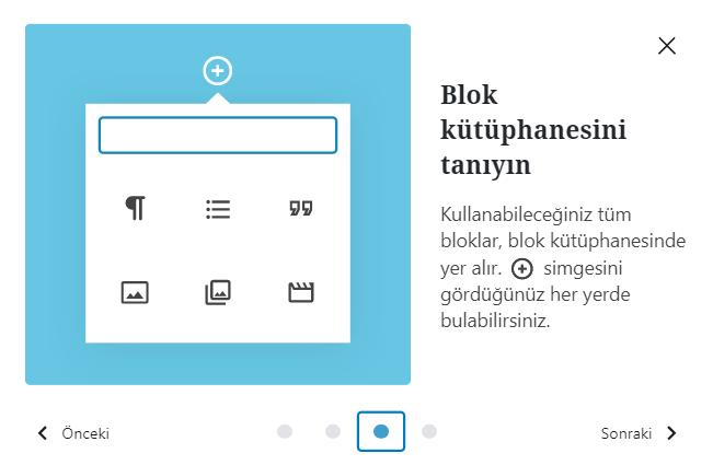 Wordpress blok kütüphanesi