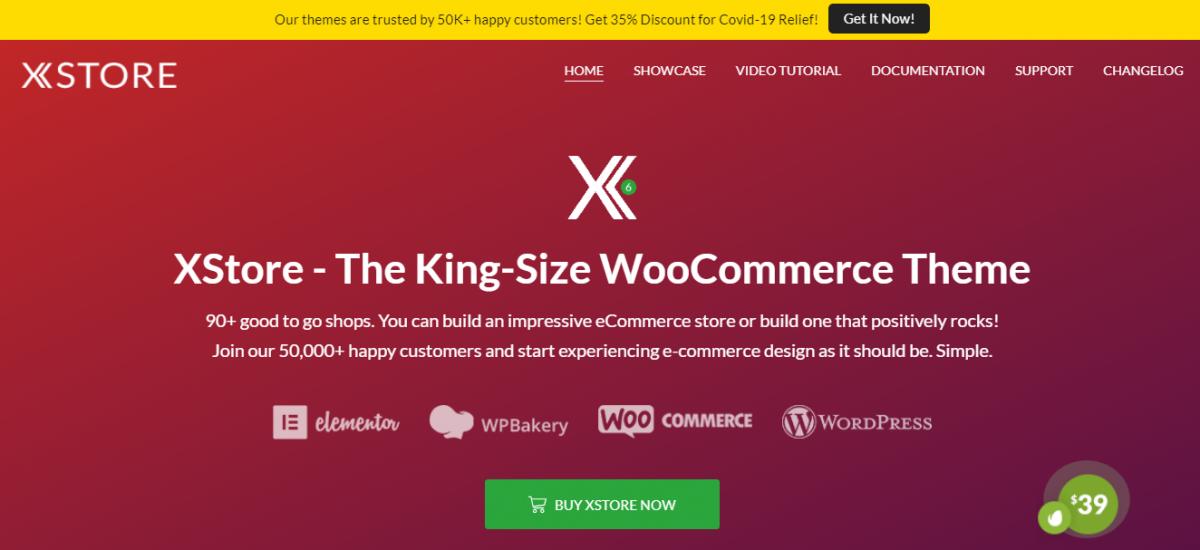 50 binden fazla müşterisi olan X-Store, minimalist ama etkileyici efektleri ile ünlü popüler bir e-ticaret teması.
