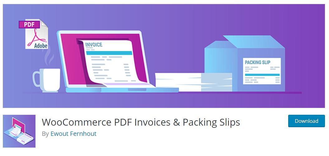 PDF Invoices & Packing Slips; toplu veya ayrı ayrı faturalar ve paketleme fişleri oluşturmanıza olanak tanıyan bir WooCommerce eklentisidir.