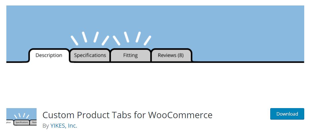 Custom Product Tabs for WooCommerce, sekmeler ekleyerek ürün sayfalarının işlevselliğini artırmayı amaçlıyor.