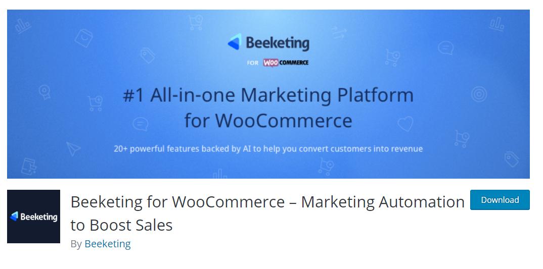 Beeketing for WooCommerce, alışveriş sepetinin terk edilmesini önlemek, mağazanızın dönüşüm oranlarını ve siparişleri artırmak için birbirinden güçlü özellikler sunan bir pakettir.