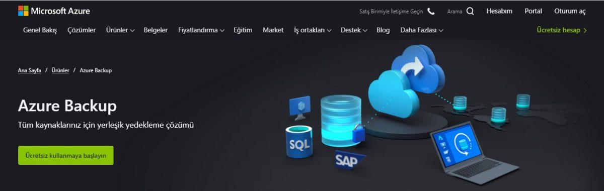 Azure Backup (Yedekleme), bulut bilişim, microsoft azure