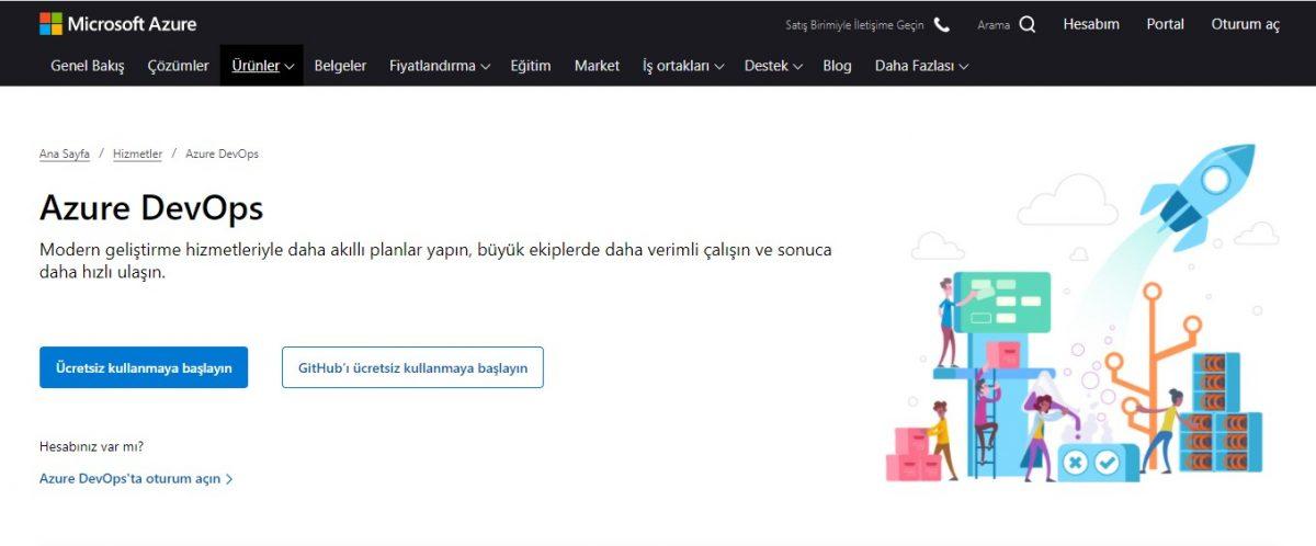 Azure DevOps, microsoft azure,Azure bulut hizmetleri