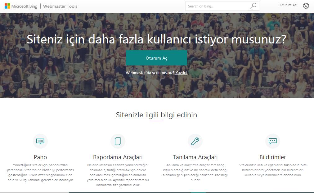 Bing Webmaster Tools (BWT), en iyi ücretsiz seo araçları, dijital pazarlama aracı, Bing Webmaster