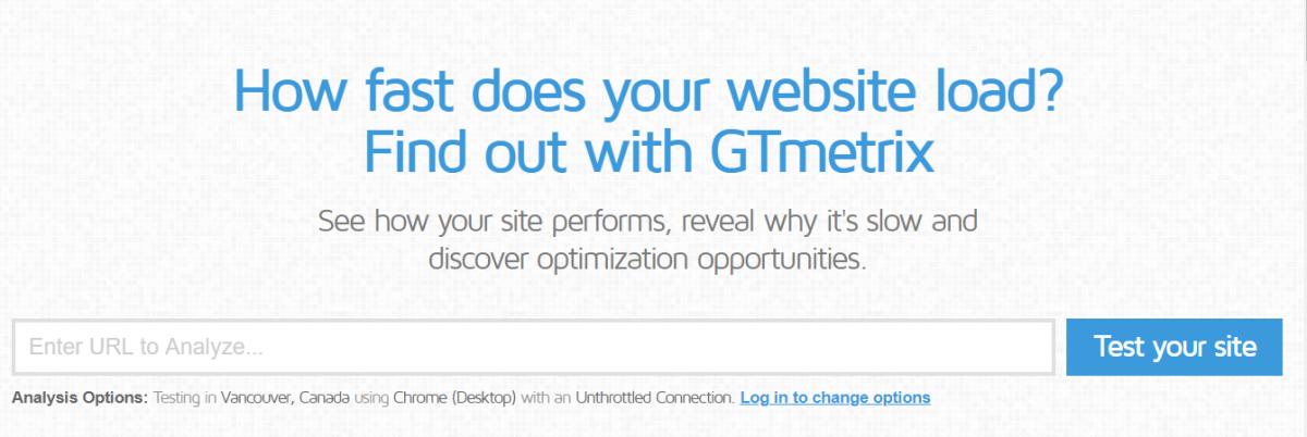 en iyi ücretsiz seo araçları, dijital pazarlama aracı, GTMetrix