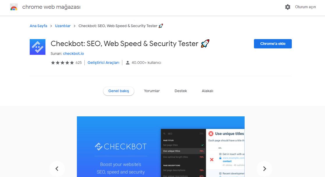 en iyi ücretsiz seo araçları, dijital pazarlama aracı, Checkbot