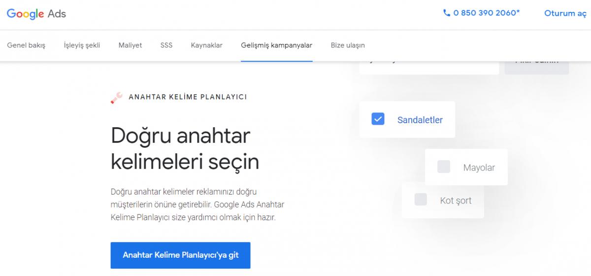 Google Keyword Planner, en iyi ücretsiz SEO araçları, Google Ads, Google Adwords, Google Anahtar Kelime Planlayıcı, dijital pazarlama araçları