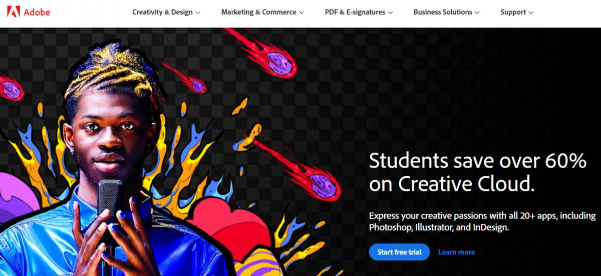 Web Tasarım Programları, Web tasarım araçları, Adobe Creative Cloud, Photoshop, Illustrator,  Dreamweaver