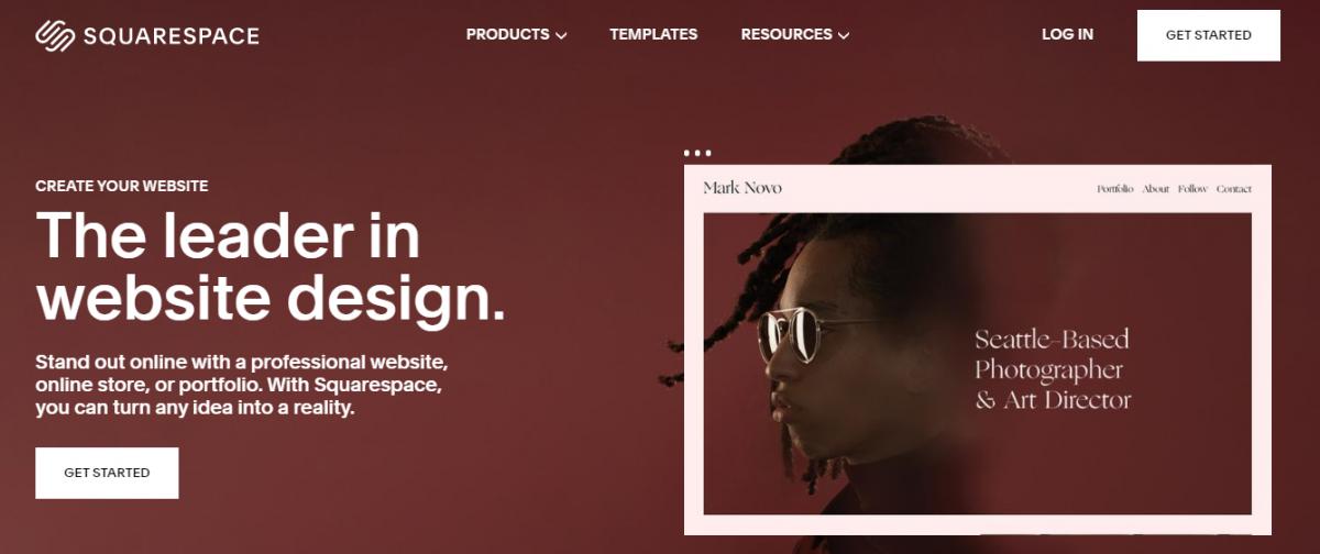 web tasarım programları, Web tasarım araçları,  web tasarım platformları, Squarespace