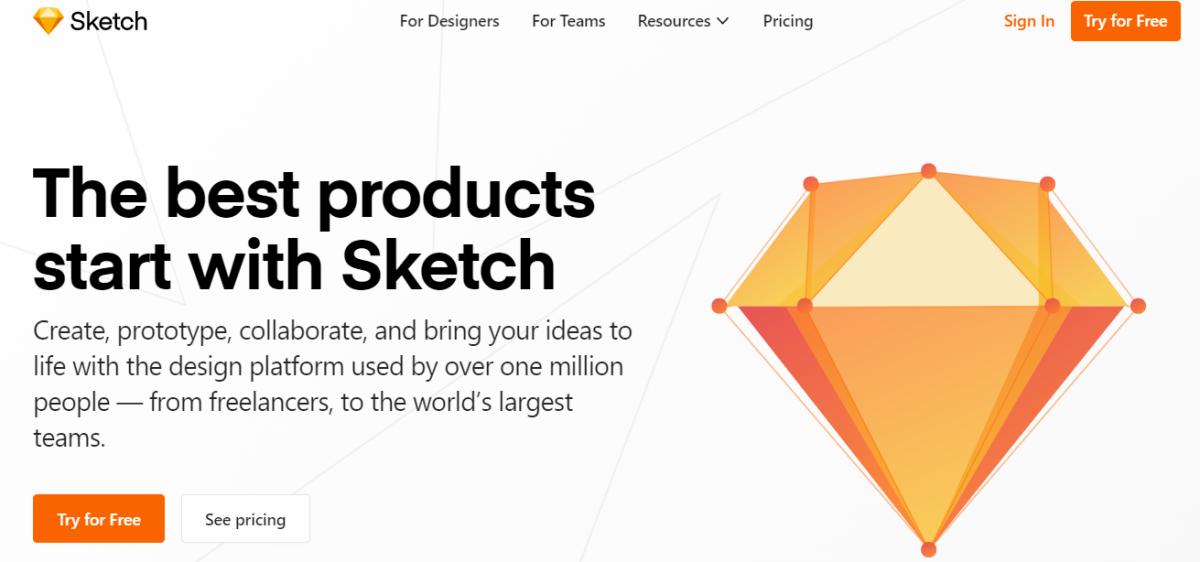 web tasarım programları, Web tasarım araçları, web tasarım platformları, Sketch