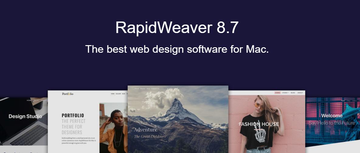 web tasarım programları, Web tasarım araçları, web tasarım platformları, RapidWeaver
