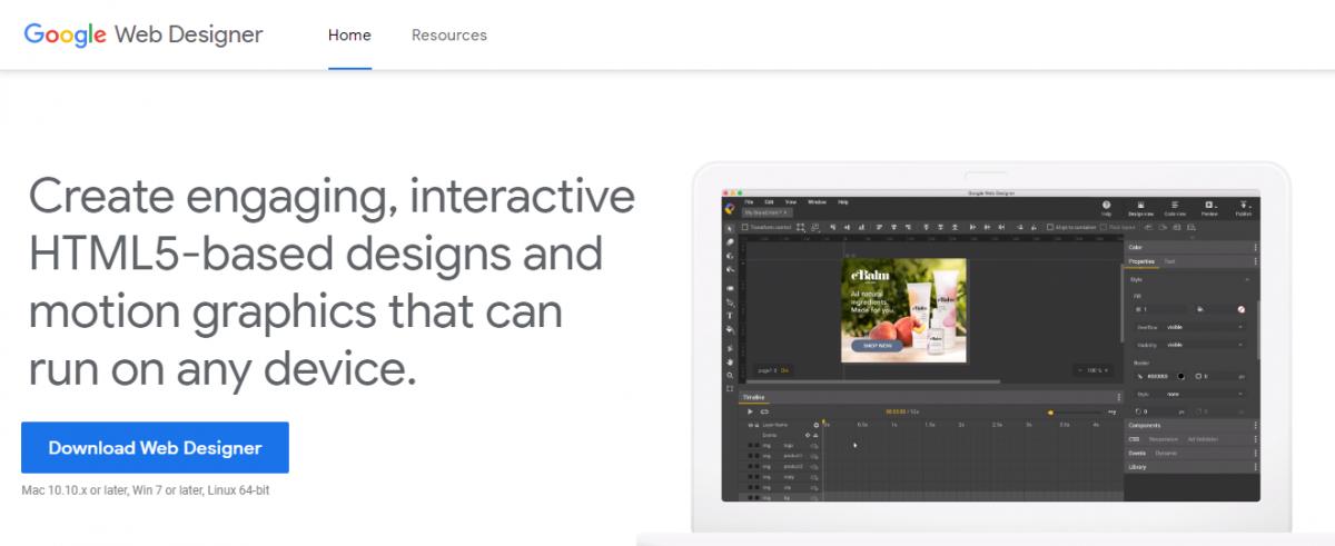 web tasarım programları, Web tasarım araçları, web tasarım platformları, Google Web Designer