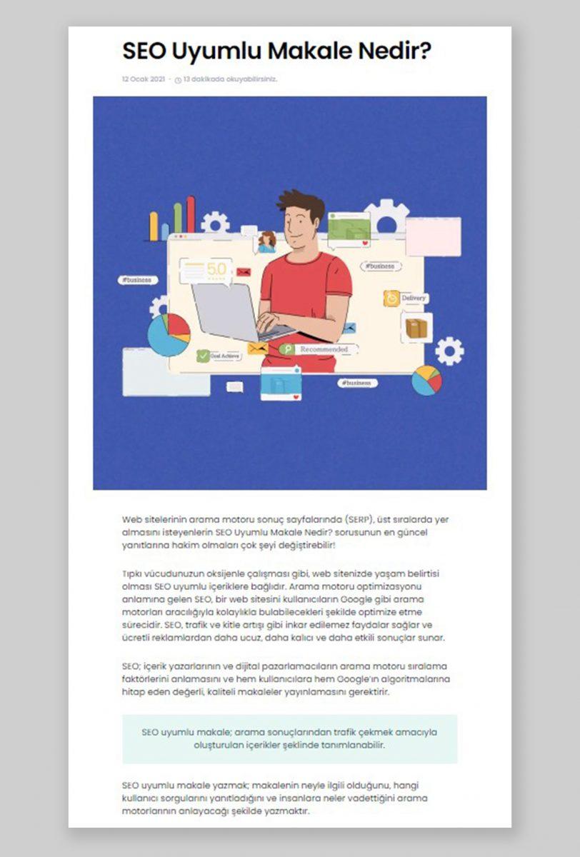 SEO uyumlu makale, on-page seo, topikal otorite, okunabilirlik