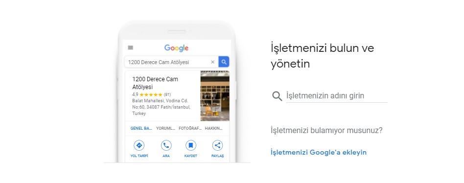 Google Benim İşletmem Nedir?, Google My Business Nedir?